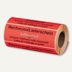 "Hinweis-Etikettenrolle - ""Rechnung innenliegend"", 148 x 48 mm, 500St., 255194430"