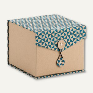 Box mit Klappdeckel TRIANGLE Cyan