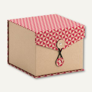 Box mit Klappdeckel TRIANGLE Magenta