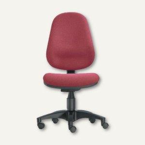 Drehstuhl Basis - Sitzhöhe: 42-56 cm, Stoff, bordeaux, 4005-104