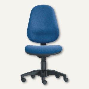 Drehstuhl Basis - Sitzhöhe: 42-56 cm, Stoff, royalblau, 4005-106