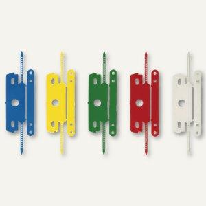 Heftstreifen mit Deckschiene, PP, ohne Metall, 30 x 80 mm, farbig sortiert, 100
