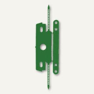 Heftstreifen mit Deckschiene, PP ohne Metall, 30 x 80 mm, grün, 100 St., 1840-60