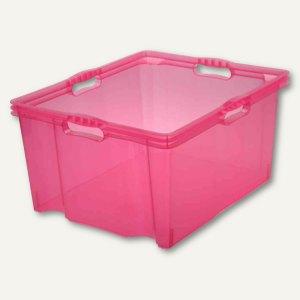 OKT Aufbewahrungsbox Multi-Box XXL, 44 l, 520 x 430 x 260 mm, pink