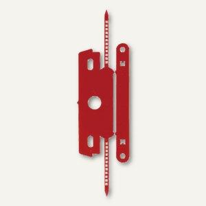 Heftstreifen mit Deckschiene, PP ohne Metall, 30 x 80 mm, rot, 100 St., 1840-20