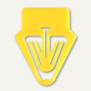 Laurel Kartenreiter Tab für Karteikarten, PS, 25 mm, gelb, 30 Stück, 0017-70
