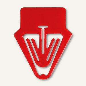 Laurel Kartenreiter Tab für Karteikarten, PS, 40 mm, rot, 30 Stück, 0023-20