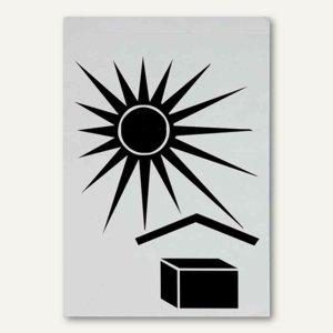Hinweisetikett Versandkartion Vor Sonne/Hitze schützen - 74 x 105 mm