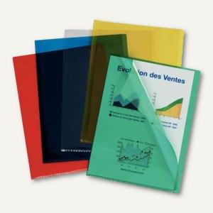 Esselte Sichthülle - DIN A4, PVC, 0,20 mm, transparent/sortiert, 100St., 420103