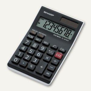 Sharp Tischrechner EL-M700 TWH, 8-stellig, Solar- & Batteriebetrieb, EL-M700TWH