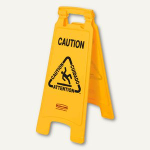 "Warnschild ""Caution Wet Floor"", mehrsprachig, klappbar, gelb, FG611200YEL"