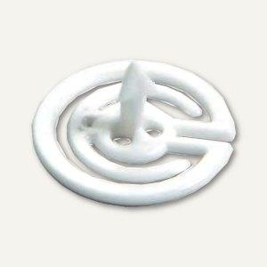 Laurel Steckklammer PIN-ZACK, Ø 20 mm, weiß, 1000 Stück, 3101-10