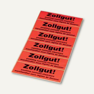 Artikelbild: Hinweis-Etikettenrolle - Zollgut!