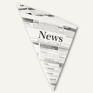"""Pommes-Frites-Spitztüten, Pergament-Ersatz, """"Zeitungspapier"""", 250 g, 1.000 St.,"""
