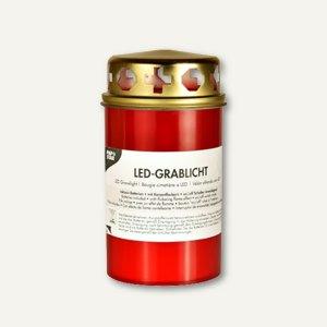 LED-Grablicht, rote Hülle mit Golddeckel, Ø 6.8 cm, H 13 cm, 12 St., 85364