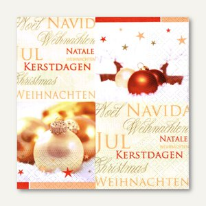 Servietten Seasons Greetings