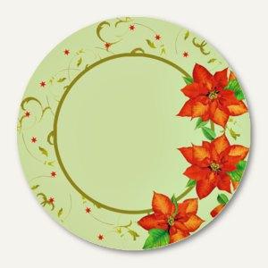 "Papstar Pappteller ""Christmas Flower"", rund, Ø 23 cm, 200 Stück, 82477"