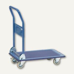 Plattformwagen - 760x495x860 mm, Stahlplattform, Tragkraft: 150 kg, blau, 3100