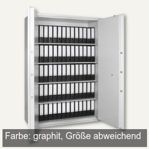 Stahlbüroschrank SB Pro 70 - 1.200x1.280x550 mm, 111kg, 2-türig, graphit