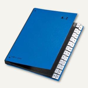 Pagna Pultordner, DIN A4, Taben A-Z, 24-teilig, blau, 24249-02