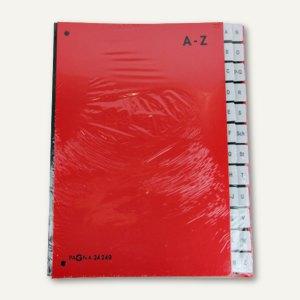Pagna Pultordner, DIN A4, Taben A-Z, 24-teilig, rot, 24249-01
