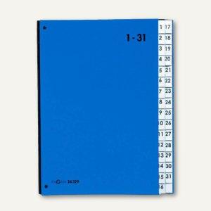 Pagna Pultordner, DIN A4, Taben 1-31, blau, 24329-02