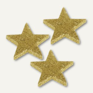 """Deko-Accessoires """"Glitter Stars"""", Weihnachtsdekoration, Gold, 96 St., 81813"""