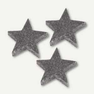 """Deko-Accessoires """"Glitter Stars"""", Weihnachtsdekoration, silber, 96 St., 84457"""