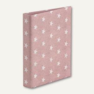 STELLA Ringbuch, DIN A5, 2 Ringe, Füllhöhe 25 mm, rosé, 3er Pack, 13161188003