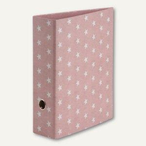 STELLA Ordner mit Hebelmechanik, 85mm Rückenbreite, rosé, 4 Stück, 13171188000