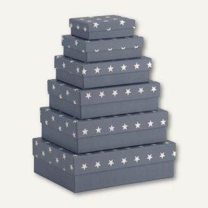 Rössler Kartonage STELLA, verschiedene Größen, blau, 6er Set, 13411186006