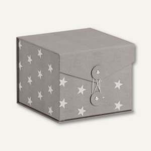 Rössler STELLA Box mit Klappdeckel, 146x146x120mm, grau, 3 Stück, 14501187000