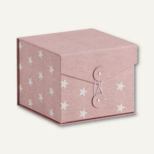 Rössler STELLA Box mit Klappdeckel, 146x146x120mm, rosé, 3 Stück, 14501188000