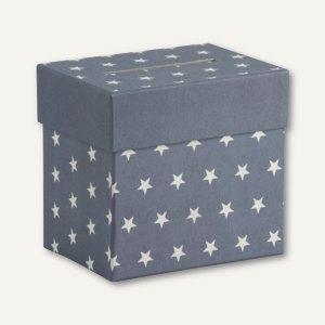Sammelbox STELLA mit Einwurfschlitz, 205x195x150mm, blau, 2 Stück, 13401186000