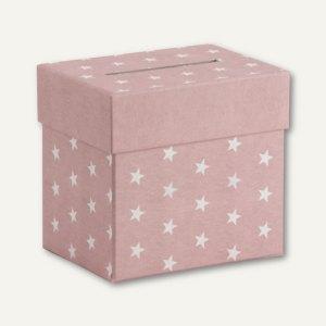 Sammelbox STELLA mit Einwurfschlitz, 205x195x150mm, rosé, 2 Stück, 13401188000