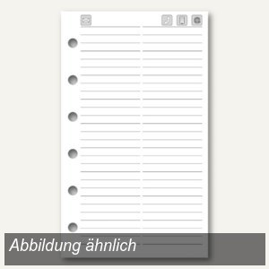 Dohse ide Timing 3 Adress/Telefon-Ersatzeinlagen, DIN A7, weiß, 32 Blatt, 706746