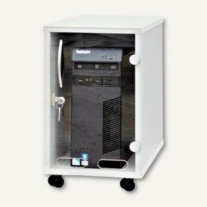 PC-Schutzgehäuse, abschließbar, B260 x T570 x H685 mm, lichtgrau, 424-ECO6