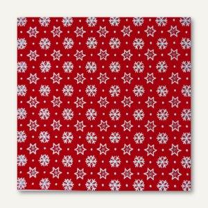 "Servietten ""Stars & Snowflakes"", 3-lagig, 1/4-Falz, 33 x 33 cm, 300 St., 82618"