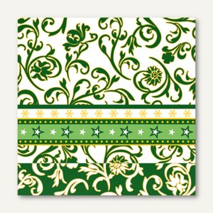 Servietten Ornamentation green