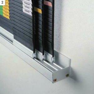 Wandschiene f. rollengelagerte Tafeln - (T)55 mm