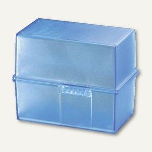 HAN Karteibox DIN A7, bis 300 Karten, transluzent-blau, 977-64