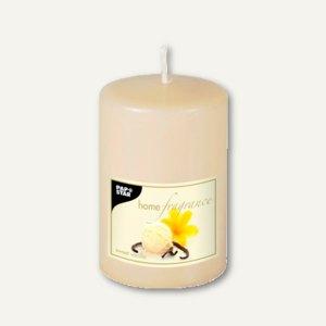 Papstar Duft-Stumpenkerze, Ø 68 mm, H 100 mm, Sweet Vanilla, creme, 6 St., 83183