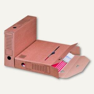 smartboxpro Archiv-Ablagebox - 315x65x233 mm, DIN A4, braun, 25 Stück, 226100125