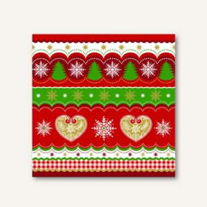 Artikelbild: Servietten Christmas Border