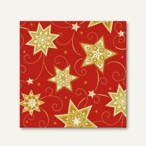 "Papstar Servietten ""Just Stars"", 1/4-Falz, 25 x 25 cm, 280 St., 16501"