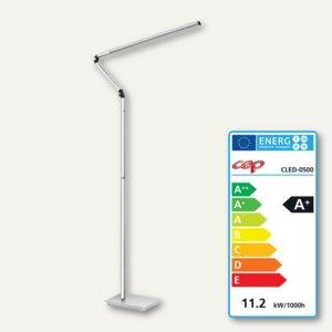 CEP LED-Stehleuchte, Edelstahl und Aluminum, 360° drehbar, silber, CLED-0500