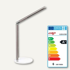 LED-Tischleuchte CepPro, Edelstahl und Aluminum, 360° drehbar, taupe, CLED-0100