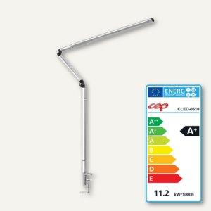 LED-Tischleuchte CepPro, Edelstahl und Aluminum, 360° drehbar, silber, CLED-0510