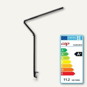 LED-Tischleuchte CepPro, Edelstahl und Aluminum, 360° drehbar, schwarz, CLED-051