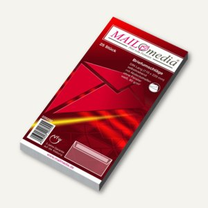 MAILmedia Briefhüllen DIN Lang, haftklebend, 80g/m², 25 Stück, 228250